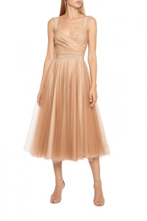 Платье вечернее Terekhov girl. Цвет: бежевый