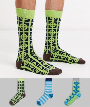Набор из 3 пар носков HS By -Мульти Happy Socks