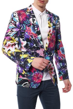 Пиджак Frankie Morello. Цвет: бело-фиолетовый,  голубой, чер
