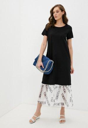 Платье Снежная Королева. Цвет: черный