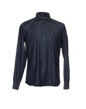 Джинсовая рубашка BRANCACCIO. Цвет: синий