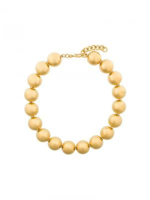 Ожерелье с круглыми деталями Monet Pre-Owned. Цвет: золотистый