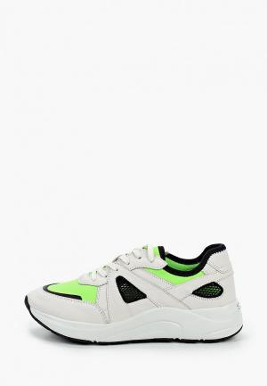 Кроссовки Caprice с увеличенной полнотой. Цвет: белый