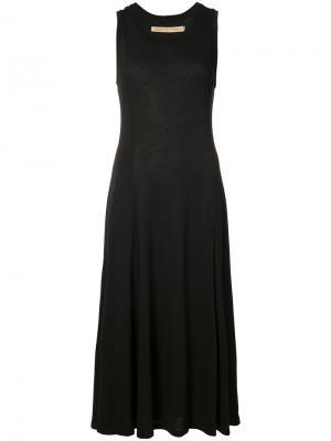 Расклешенное платье-майка Raquel Allegra. Цвет: чёрный