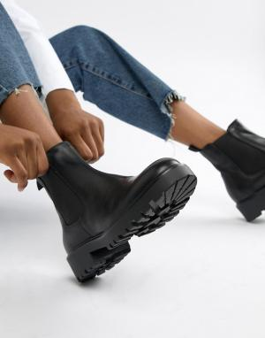 Черные кожаные ботинки челси на массивной подошве Kenova-Черный Vagabond