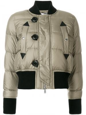 Дутая куртка-бомбер Dsquared2. Цвет: зелёный