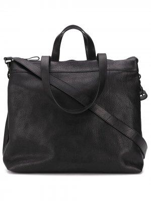 Фактурная сумка-тоут на молнии Marsèll. Цвет: черный