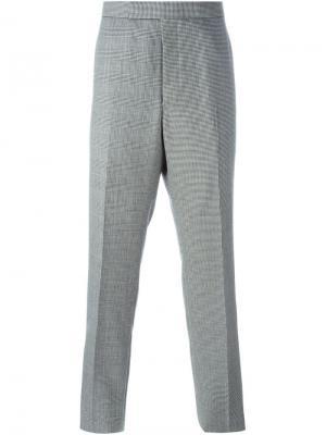Классические брюки в ломаную клетку Thom Browne. Цвет: чёрный
