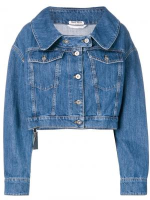 Укороченная джинсовая куртка Miu