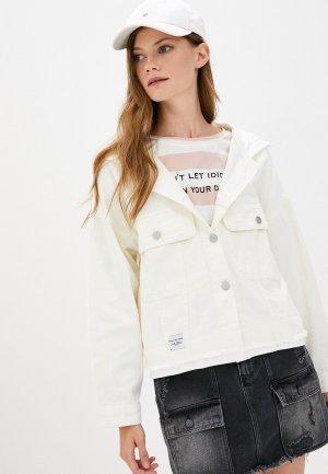 Куртка джинсовая Fadjo. Цвет: белый