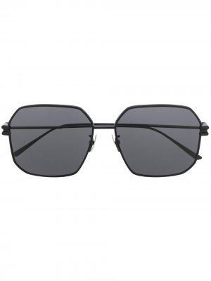 Солнцезащитные очки в квадратной оправе Bottega Veneta. Цвет: черный