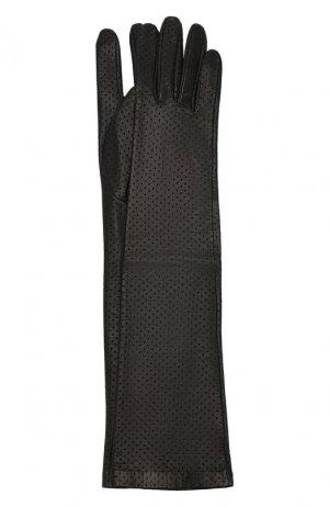 Кожаные перчатки Acne Studios. Цвет: чёрный