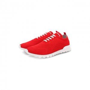 Текстильные кроссовки Kiton. Цвет: красный
