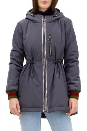 Куртка-бомбер Pavel Yerokin. Цвет: серый,серебристый
