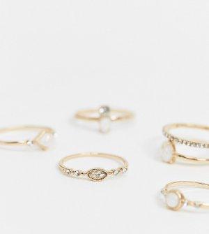 Золотистые кольца с белыми камнями Banheira-Золотой ALDO
