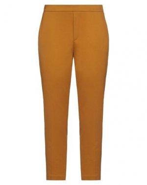 Повседневные брюки 1-ONE. Цвет: охра