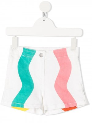 Джинсовые шорты Swiggle Stella McCartney Kids. Цвет: белый