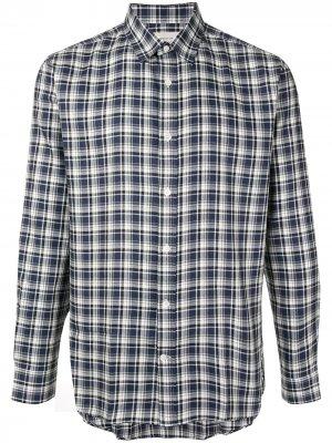 Клетчатая рубашка с длинными рукавами Cerruti 1881. Цвет: синий