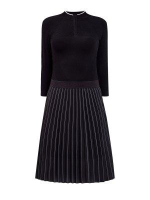 Платье в стиле athleisure из эластичного трикотажа KARL LAGERFELD. Цвет: черный