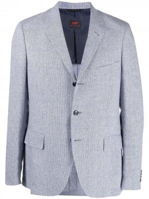 Однобортный пиджак MP Massimo Piombo. Цвет: синий