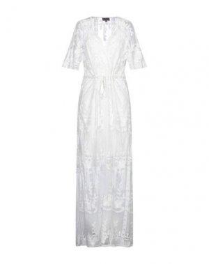 Длинное платье HALE BOB. Цвет: белый