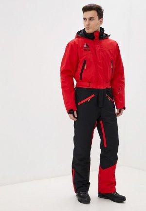 Комбинезон сноубордический High Experience. Цвет: красный
