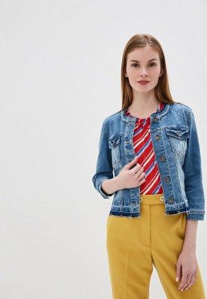 Куртка джинсовая Taifun. Цвет: синий
