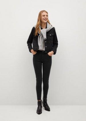 Укороченные джинсы скинни Isa - Mango. Цвет: черный деним