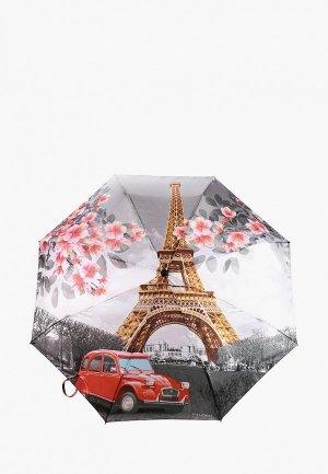 Зонт складной Flioraj. Цвет: серый