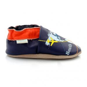 Ботиночки Travels ROBEEZ. Цвет: темно-синий/ оранжевый