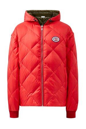 Двусторонняя куртка 3 в 1 со съемными рукавами GUCCI. Цвет: мульти