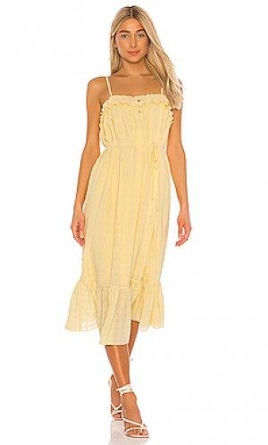 Платье sofina Tularosa. Цвет: желтый