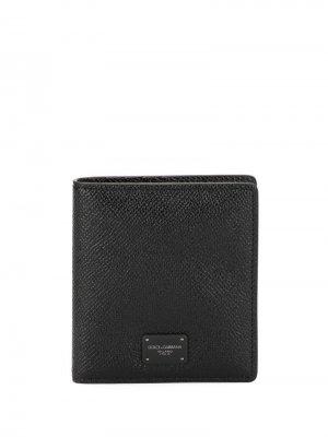 Бумажник с логотипом Dolce & Gabbana. Цвет: черный