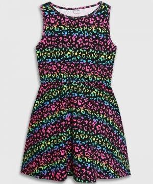 Трикотажное платье для девочек O`Stin. Цвет: черный