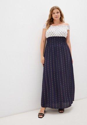 Платье Shegida. Цвет: синий