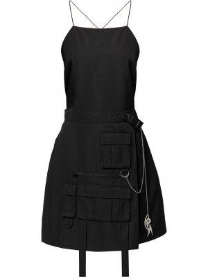 Платье с открытой спиной Ground Zero. Цвет: черный