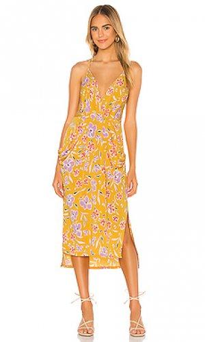 Платье миди BCBGeneration. Цвет: желтый