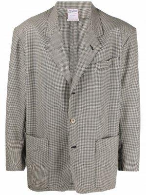 Шерстяной пиджак 1980-х годов в клетку гингем Jean Paul Gaultier Pre-Owned. Цвет: нейтральные цвета