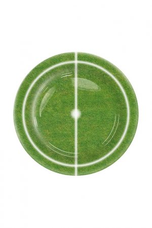 Тарелка десертная Футбол Konitz. Цвет: зеленый