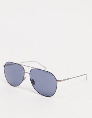 Солнцезащитные очки с матовой оправой -Серебристый Lacoste