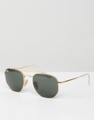 Солнцезащитные очки-авиаторы 0RB3648-Золотистый Ray-Ban