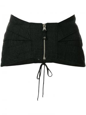 Пояс-корсет на молнии Jean Paul Gaultier Pre-Owned. Цвет: серый