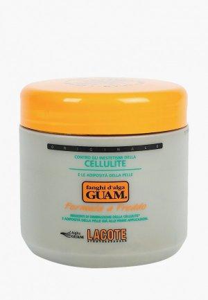 Маска для тела Guam антицеллюлитная с охлаждающим эффектом, Линия FANGHI D ALGA, 500 г.. Цвет: белый