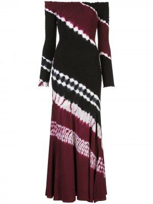 Длинное платье Shibuya Altuzarra. Цвет: черный