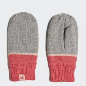 Варежки Stripe Performance adidas. Цвет: розовый