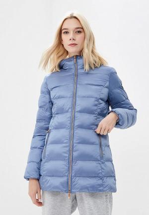 Куртка утепленная EA7. Цвет: голубой