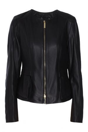Кожаная куртка Sarimy BOSS. Цвет: черный