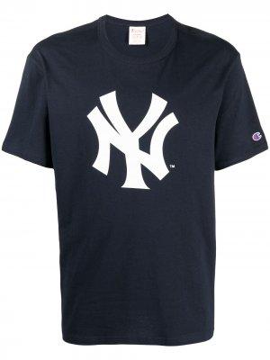 Футболка New York MLB Champion. Цвет: синий