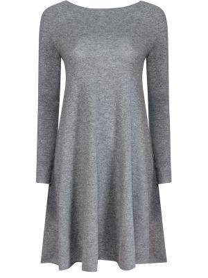 Кашемировое платье BILANCIONI. Цвет: серый