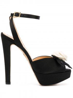 Босоножки на высоком каблуке с открытым носком Charlotte Olympia. Цвет: черный